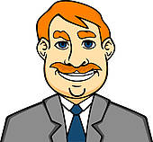 Clipart of Adult smiling man k13717031.