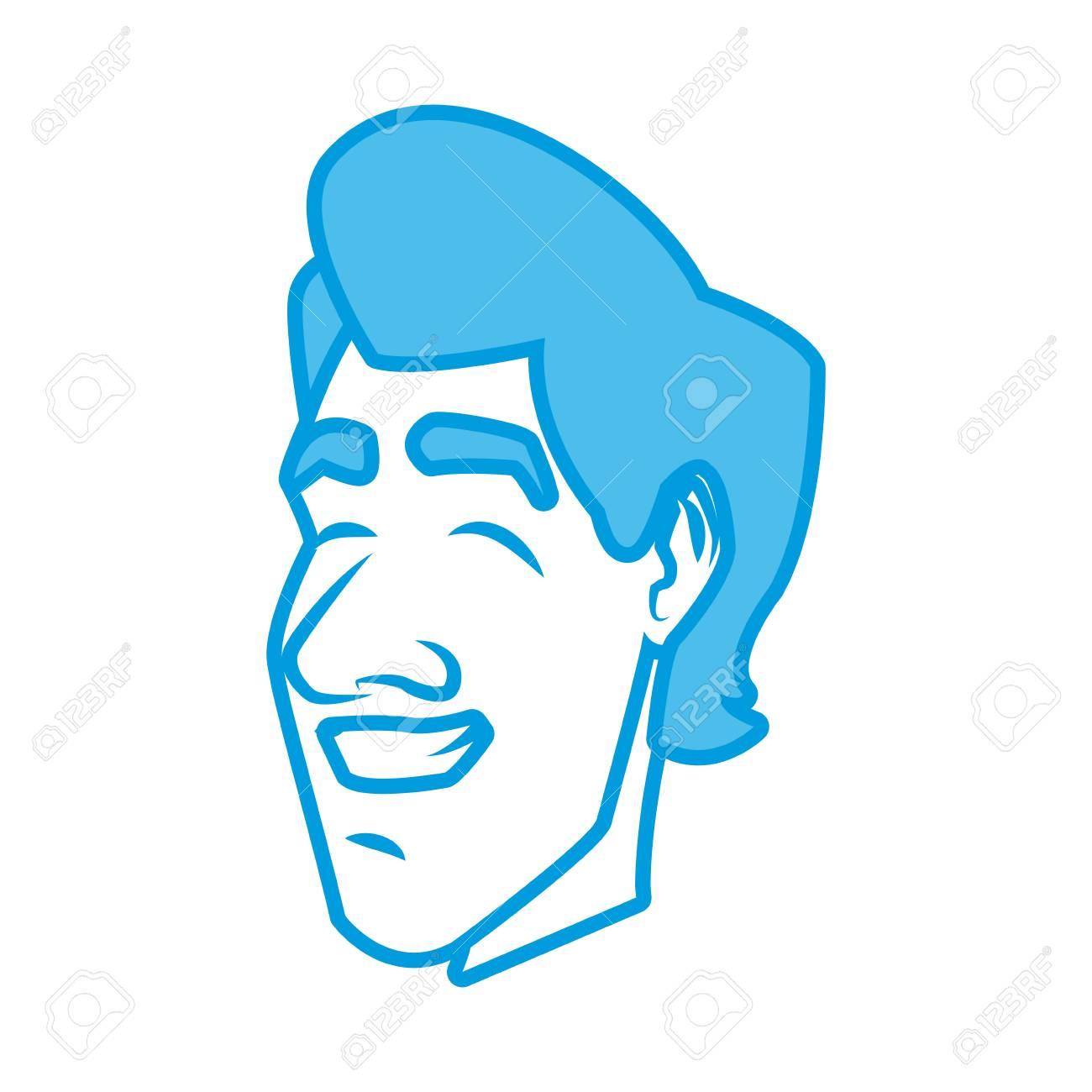 Adult man face cartoon icon vector illustration graphic design.