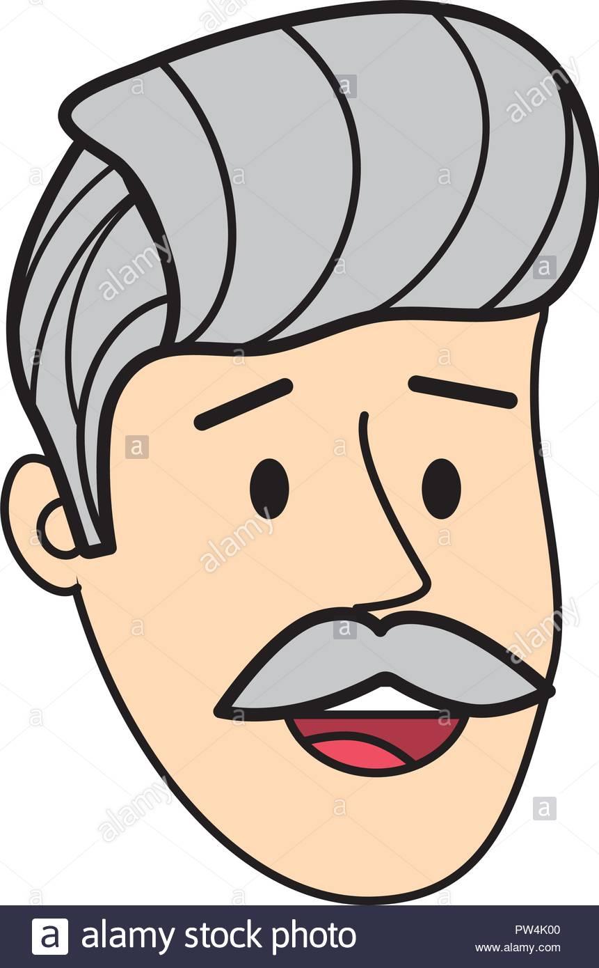 Adult man face cartoon Stock Vector Art & Illustration.