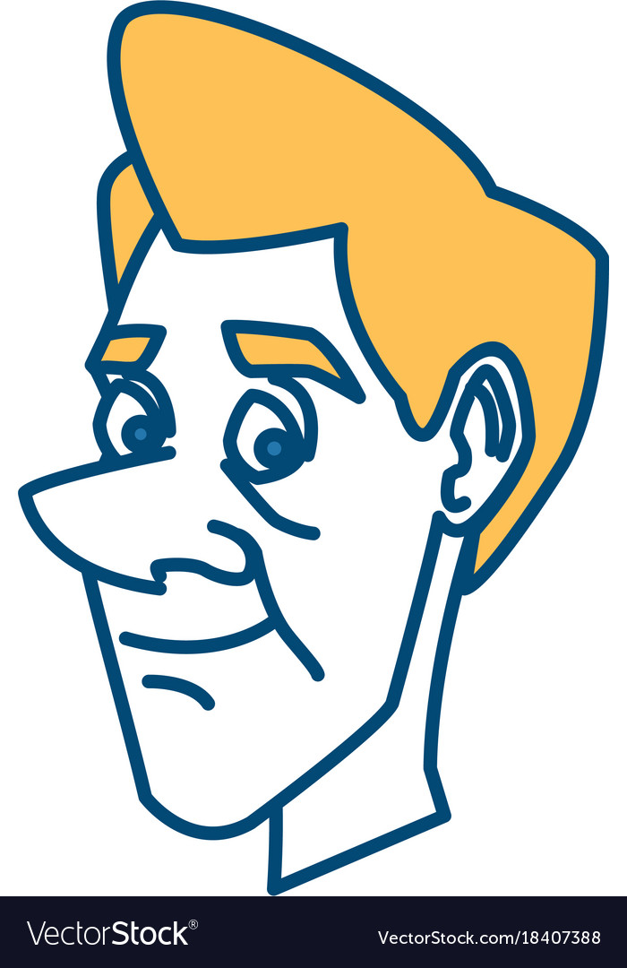 Adult man face cartoon vector image on VectorStock.