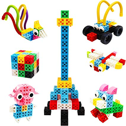 BMAG Creative Building Blocks, Educational Stacking Construction Toy Kit,  Stem Building Set for Both Adult and Kids, with Flexible Building Sticks.