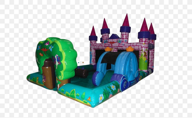 Inflatable Bouncers Castle Playground Slide Toy, PNG.