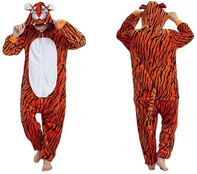 YIPEISHA Fleece Onesie Pajamas for Women Adult Cartoon Animal Unicorn  Halloween Christmas Cosplay Onepiece Costume.
