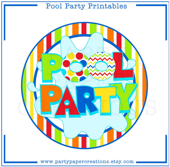 Adult pool party clipart 2.