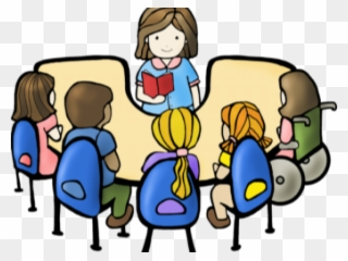 Png Royalty Free Library Group Reading Clipart.
