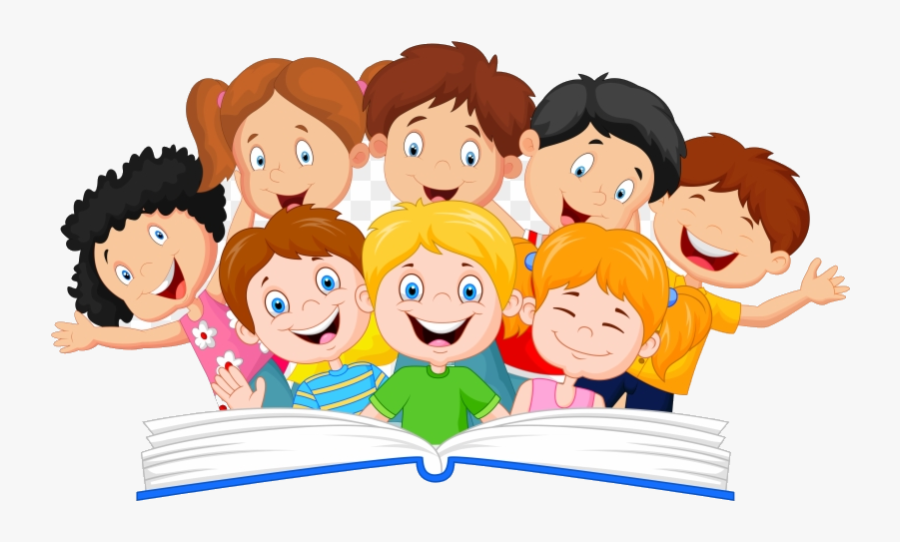 Reading Kids Clipart Children Transparent Png.