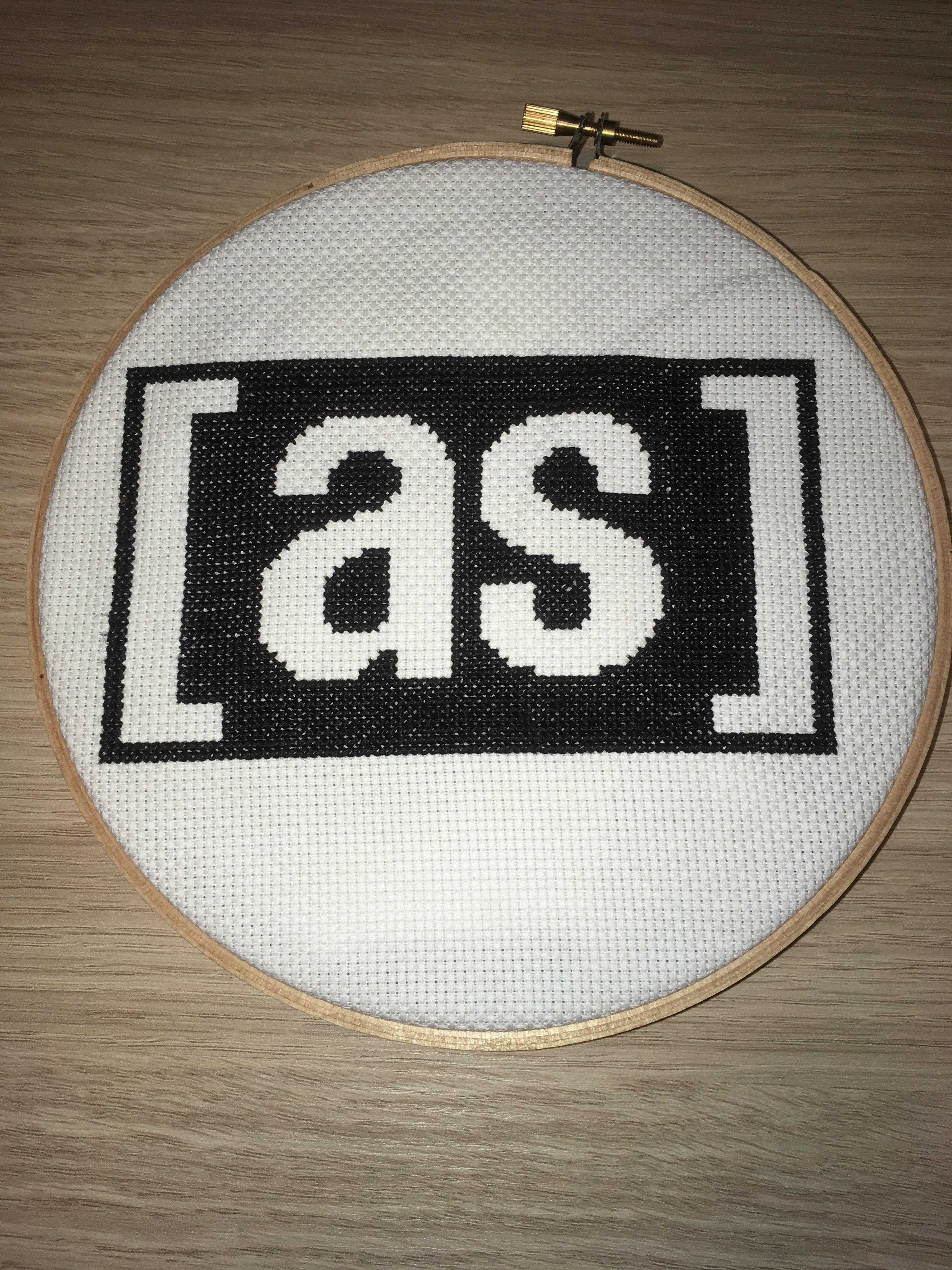 My adult swim logo cross stitch : adultswim.