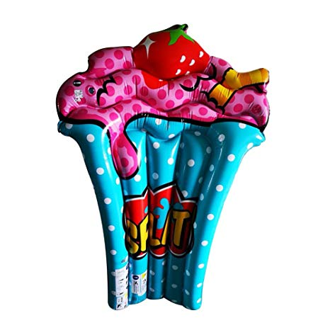 Amazon.com : WYHDX Inflatable Pool Float Cup Cake Air Mat.