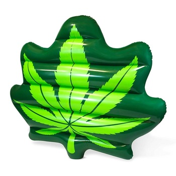 Giant Weed Leaf Pool Floats For Adults Swimming Inflatable Lounge Float As  Adult Swim Toys.