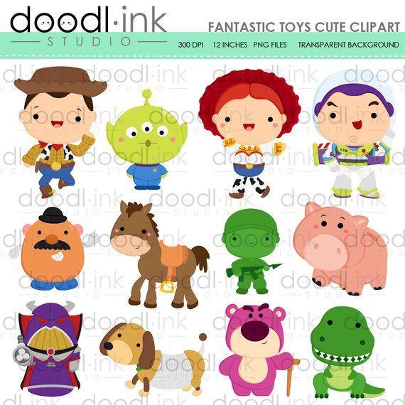 SALE 50%!!! Fantastic Toys Digital Clipart / Cute Live Toy.