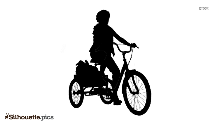 Adult tricycle Silhouette Vector, Clipart Images, Pictures.