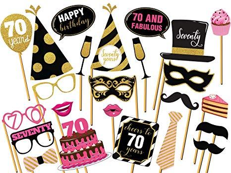Amazon.com: Cheers to 70 Years Birthday photo booth prop, 70.