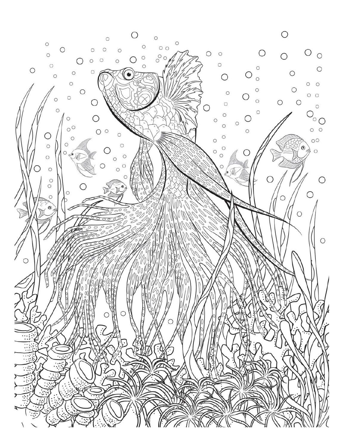 Underwater Coloring Pages For Adults.