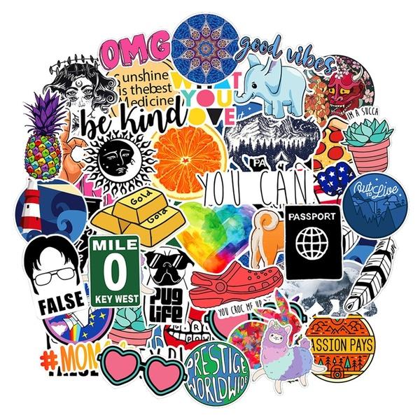 40 PCS INS Style Cartoon Cute Sticker, Laptop Guitar Luggage Helmet Diary  Storage Box Phone Stickers Waterproof Vinyl Decal for Kids Adults.