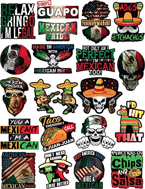 20 Mexican Stickers.