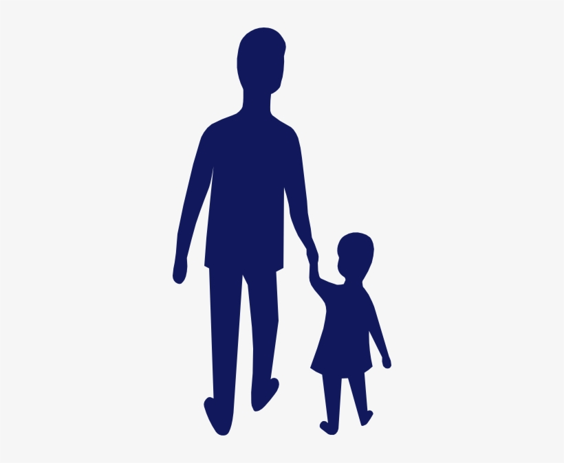 How To Set Use Blue Adult Child Holding Hands Clipart PNG.