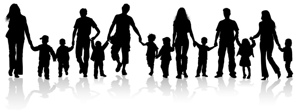 Children Holding Hands Silhouette at GetDrawings.com.
