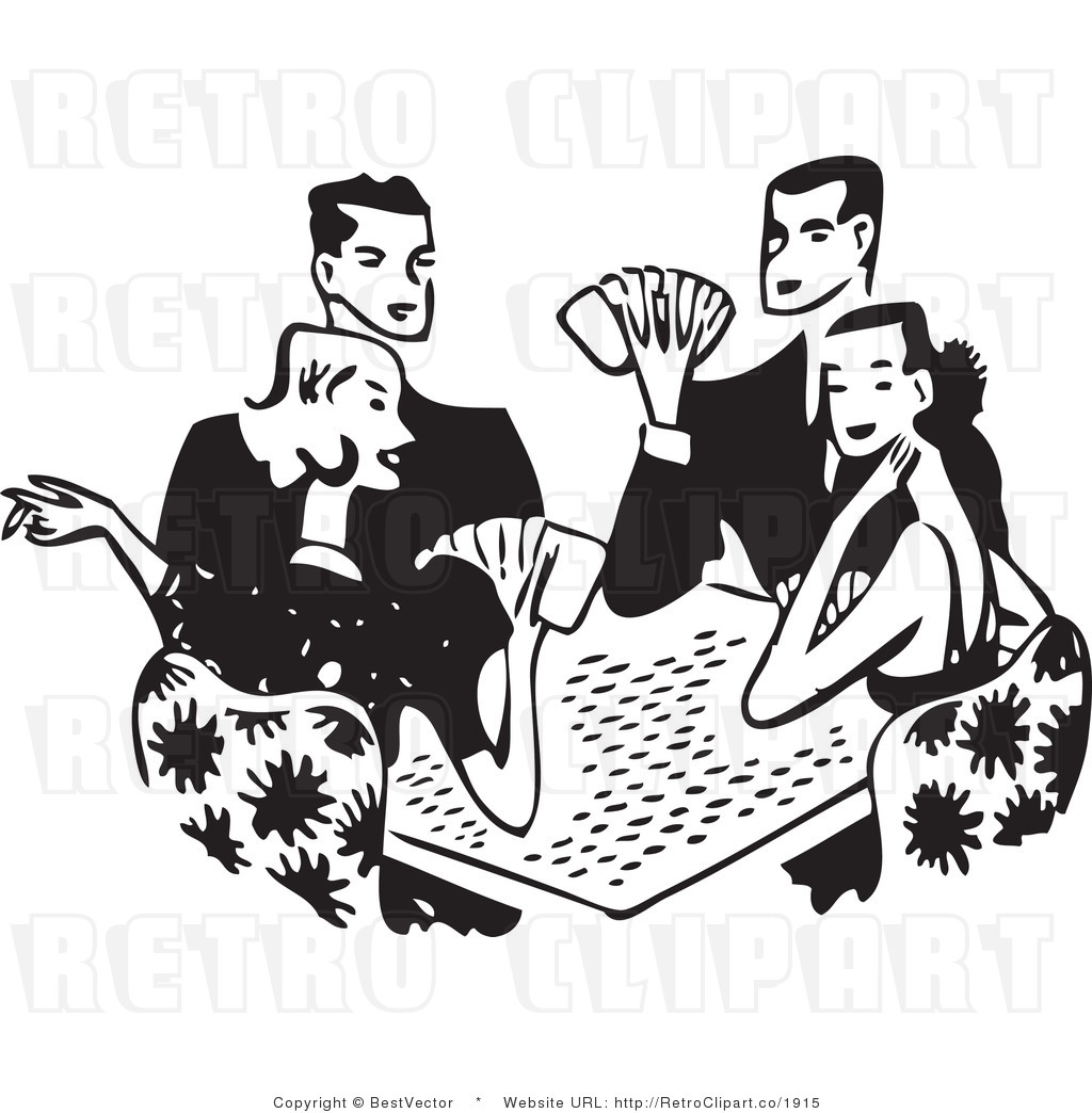 Playing Cards Clipart Black And White.