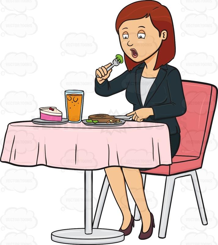 Ladies Eating Clipart.