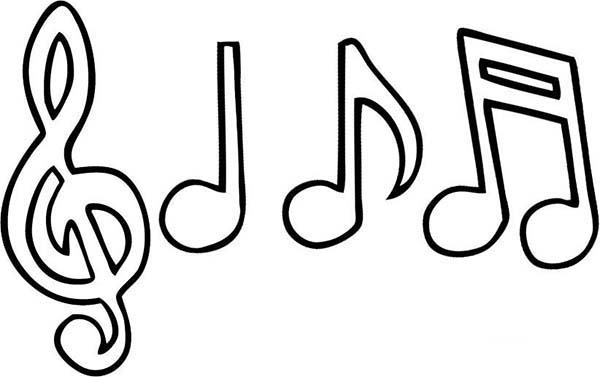 Music Notes Coloring Pages For Adults.