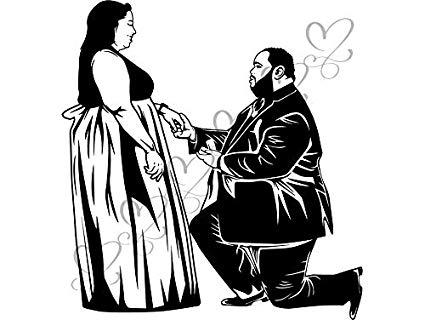 Amazon.com: Mildred Rob Black Big Couple Relationship Goals.