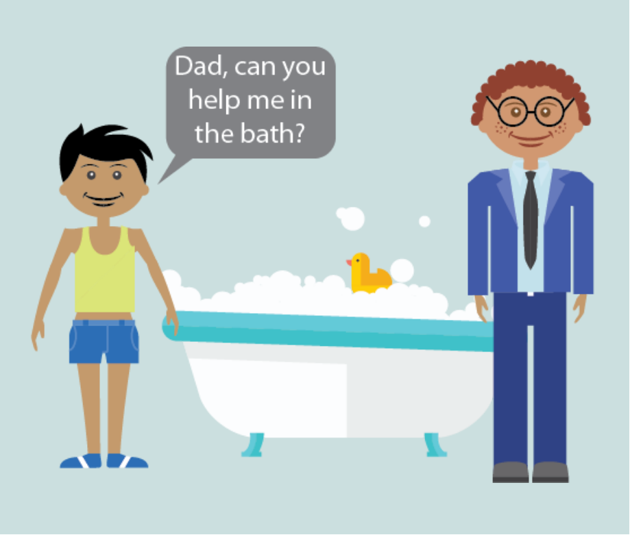 Be Safe: Who Should Help Me in the Bathroom Social Story.