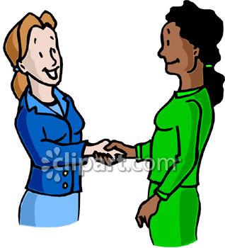 Women Shaking Hands Clipart.