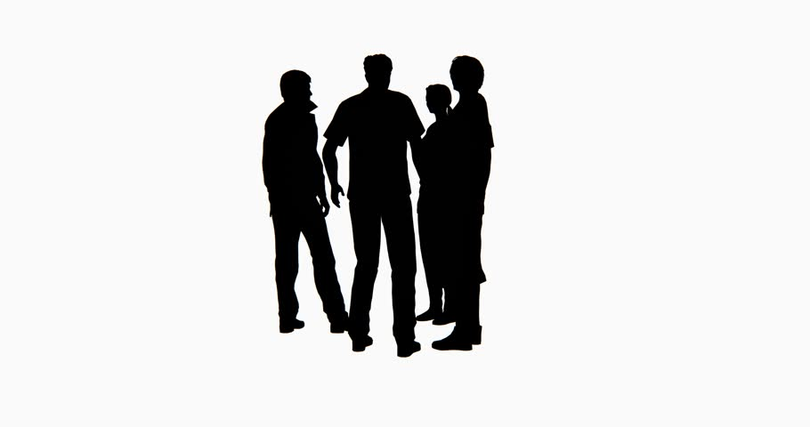 Silhouette People Talking Png.
