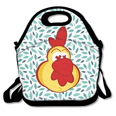 Amazon.com: Chicken Clipart With Crazy Eyes Insulated Lunch.