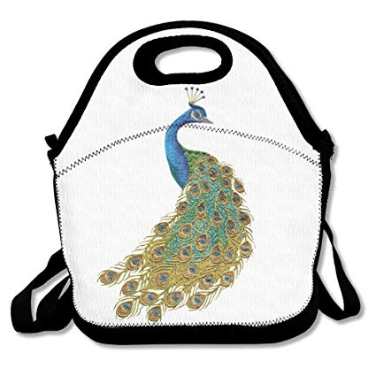 Amazon.com: Peacock Clipart Insulated Lunch Bag.