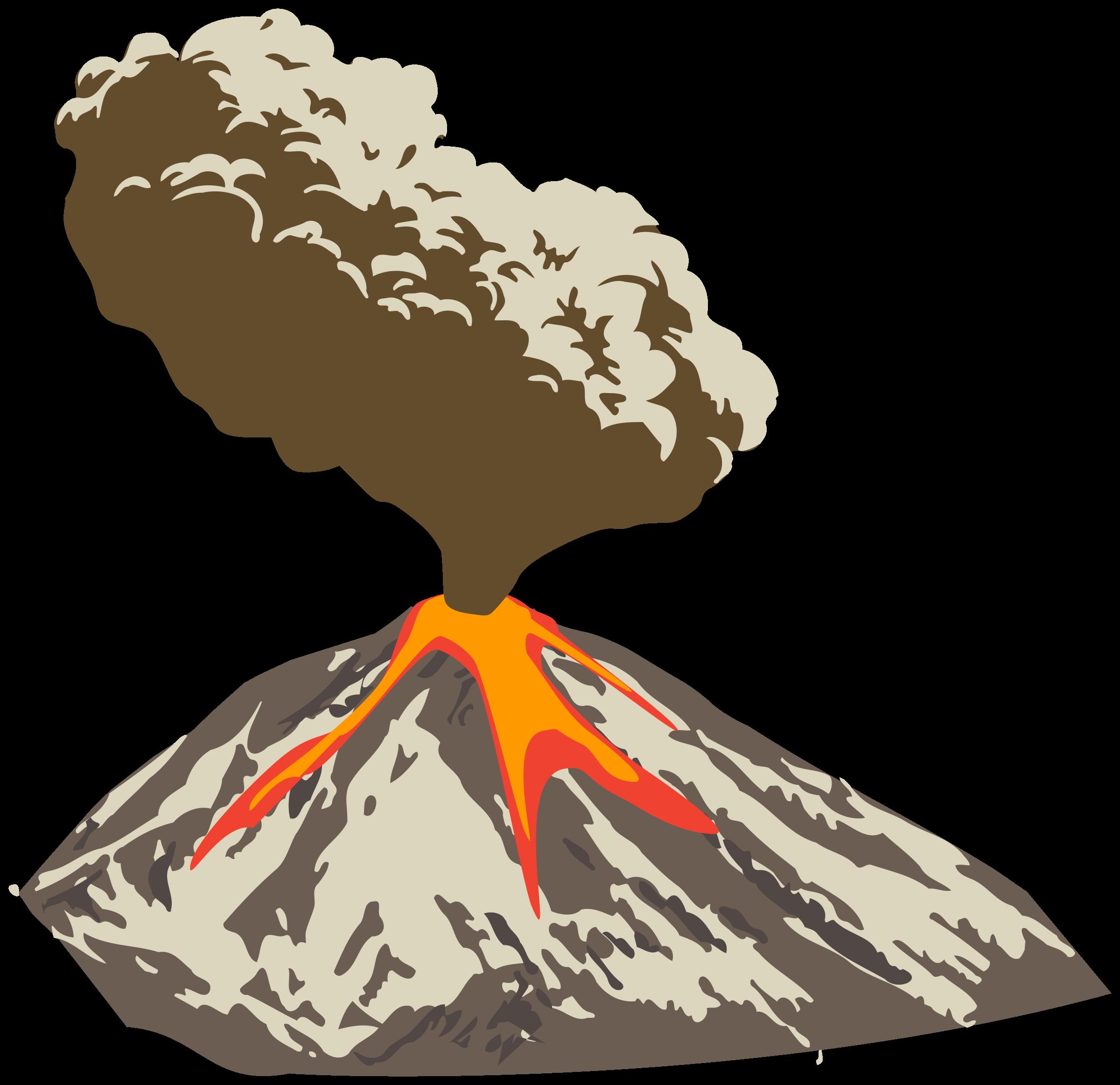 Volcano Before Eruption Clipart.