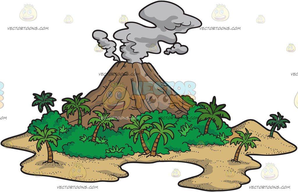 Volcanic Island Clipart.