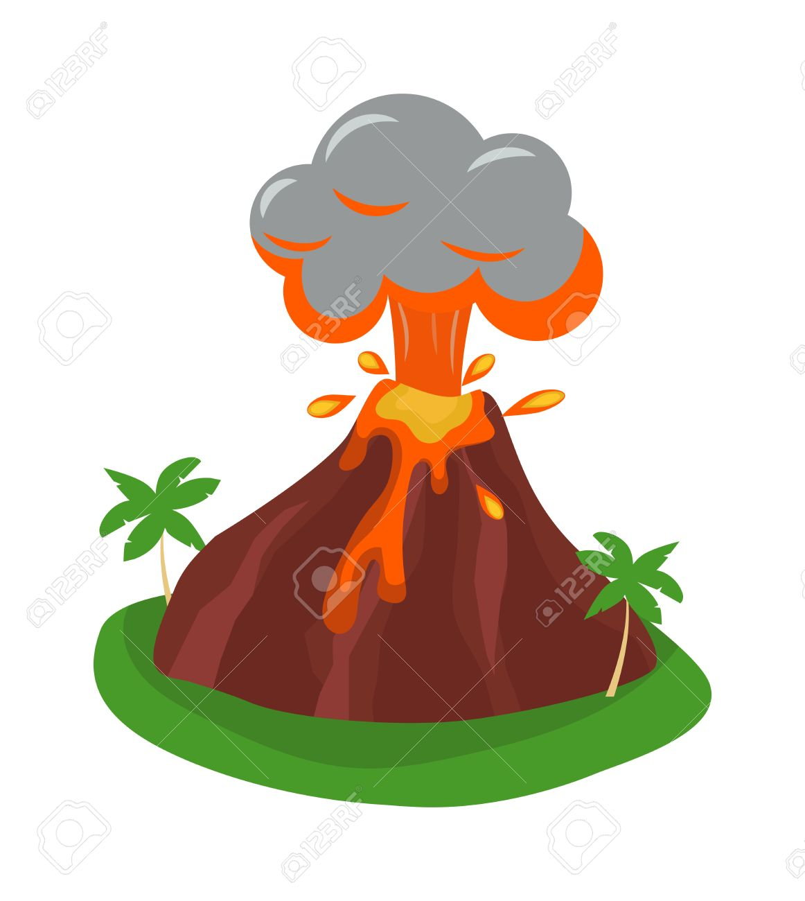 Volcano Eruption Clipart.