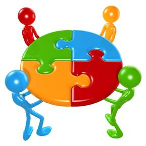 People Working Together Clipart.