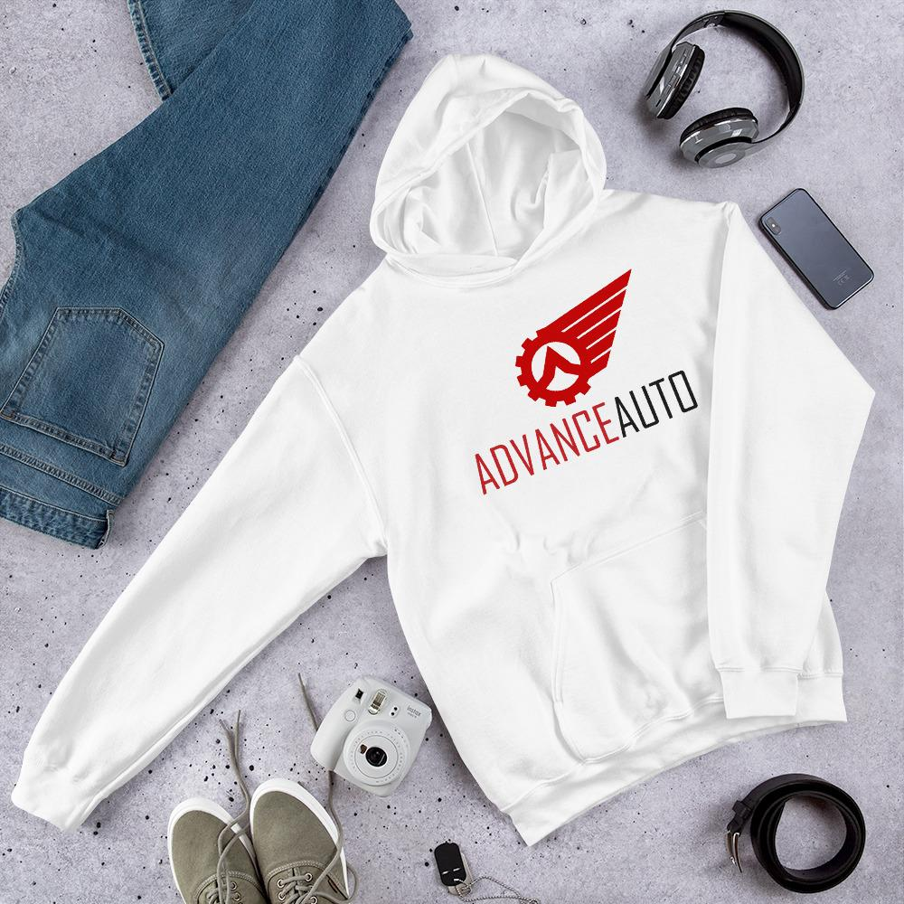 Soft Hooded Sweatshirt with Advance Auto Logo.