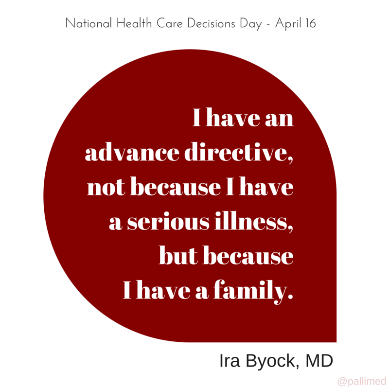 Resources for National Healthcare Decisions Day 2015 ~ Pallimed.