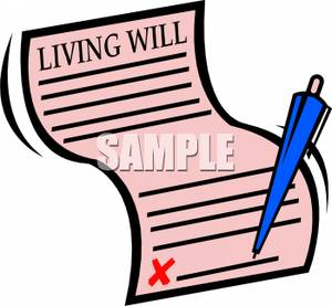 Living will clipart.