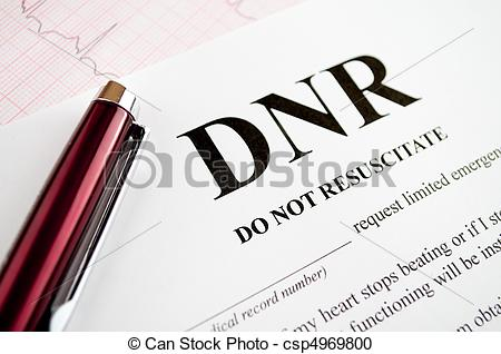 Stock Photography of DNR Form.