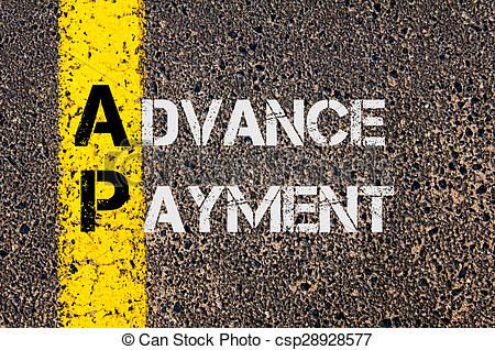 Picture of Business Acronym AP as Advance Payment.