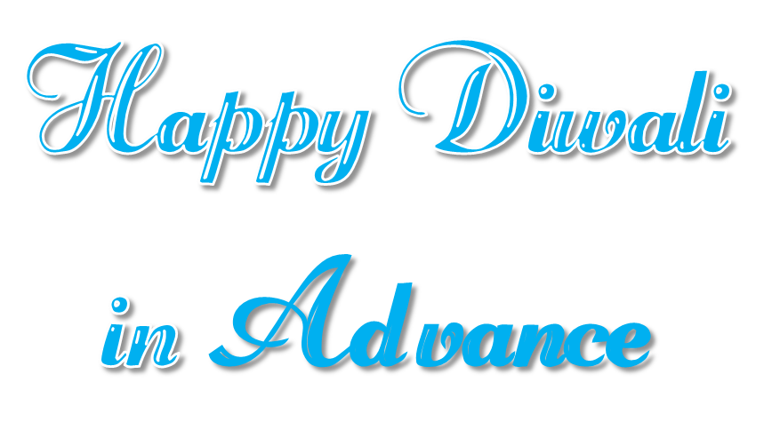 Happy Diwali In Advance PNG Transparent File.
