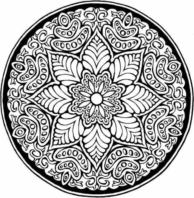 Printable 33 Lotus Flower Mandala Coloring Pages 5555.