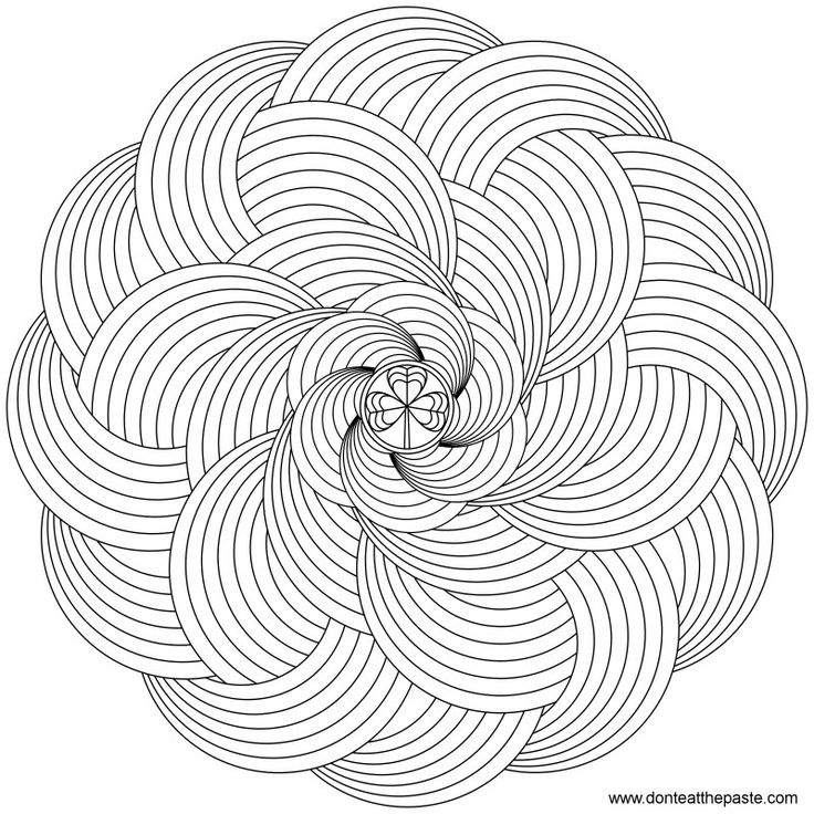 advanced mandala clipart #11