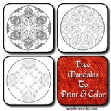 Flower Mandala Coloring Pages, Free Mandala Coloring Sheets with.