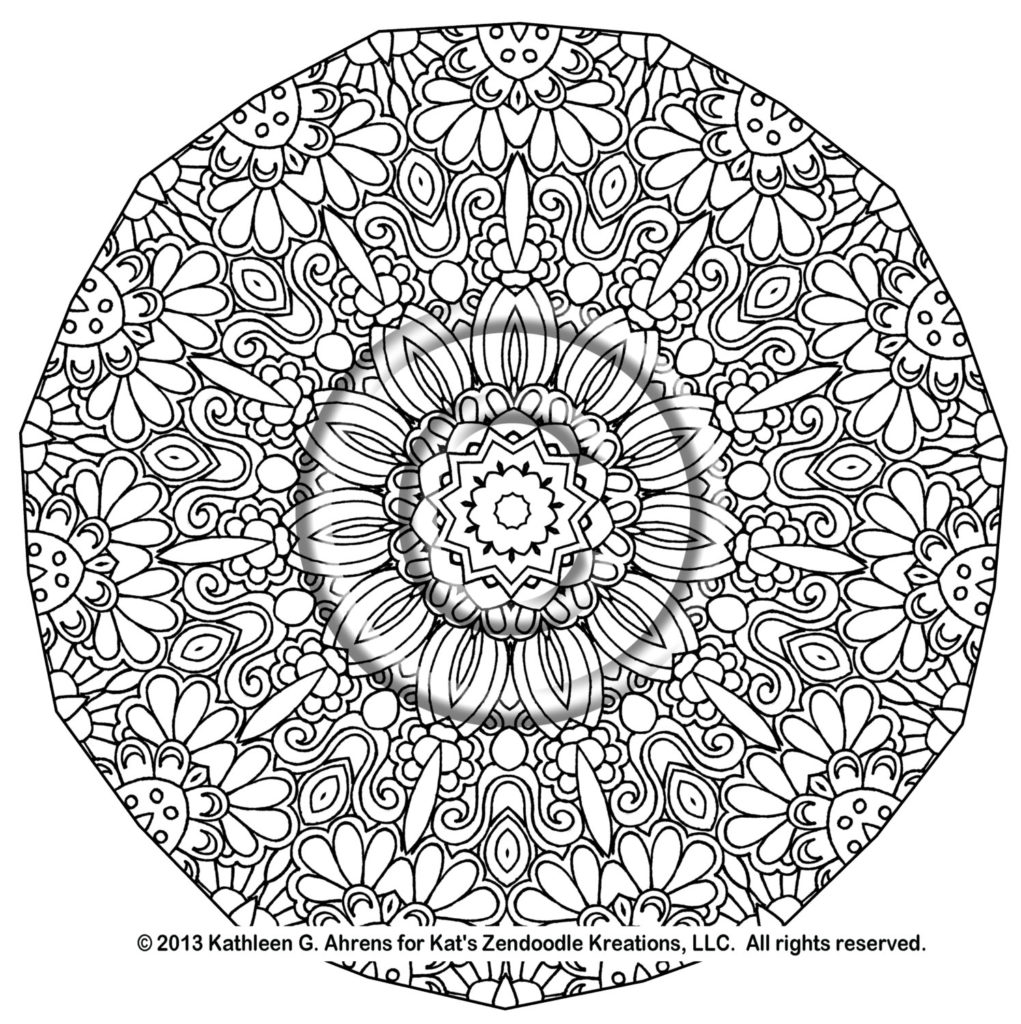 Coloring Pages For Adults Mandalas.