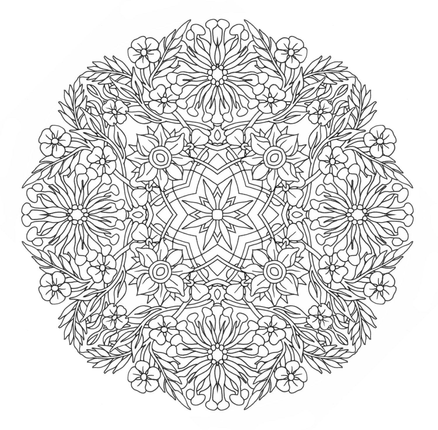 Mandala Coloring Pages Expert Level.