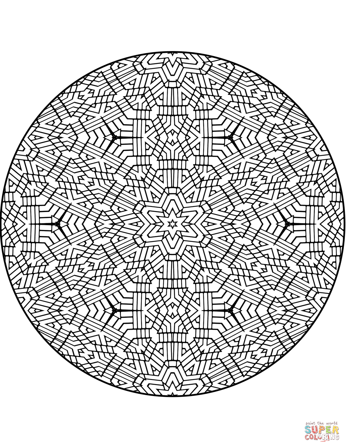 Advanced mandalas coloring pages.
