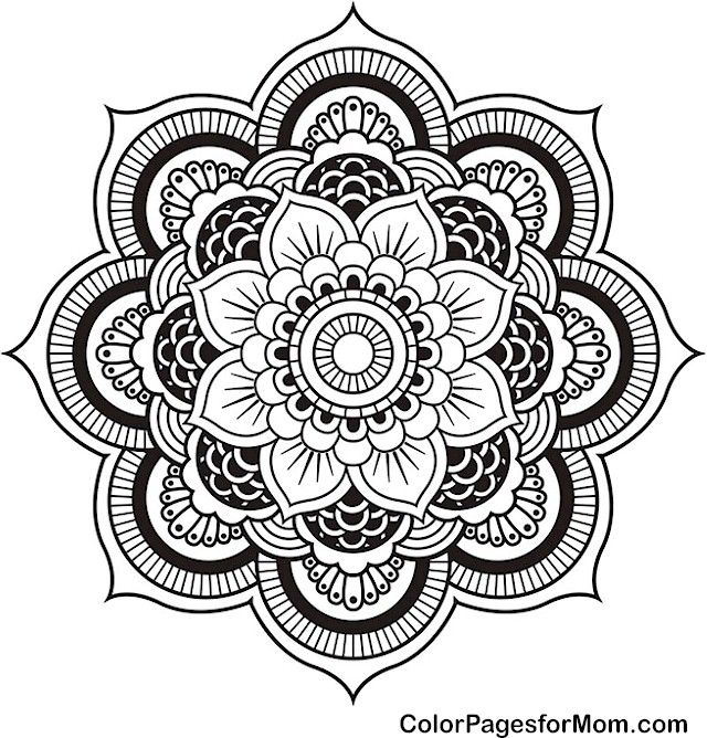 advanced mandala clipart #20