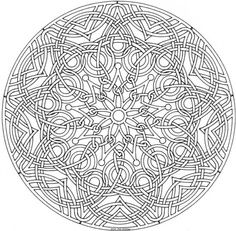advanced mandala clipart #19