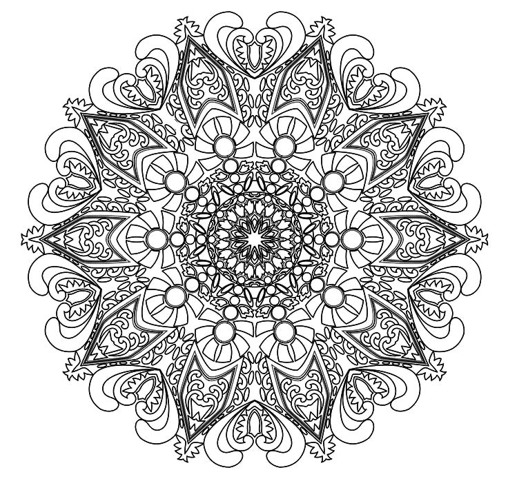 17 Best images about Colouring pages Mandala on Pinterest.