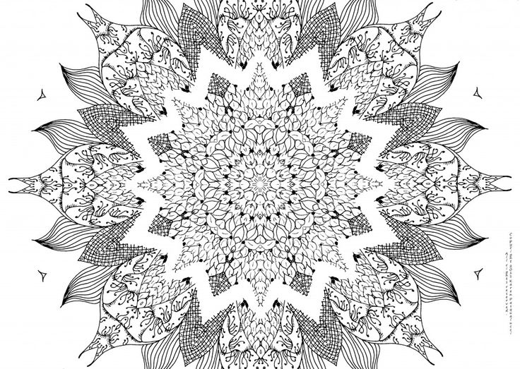51 Best images about Mandala Coloring Pages on Pinterest.